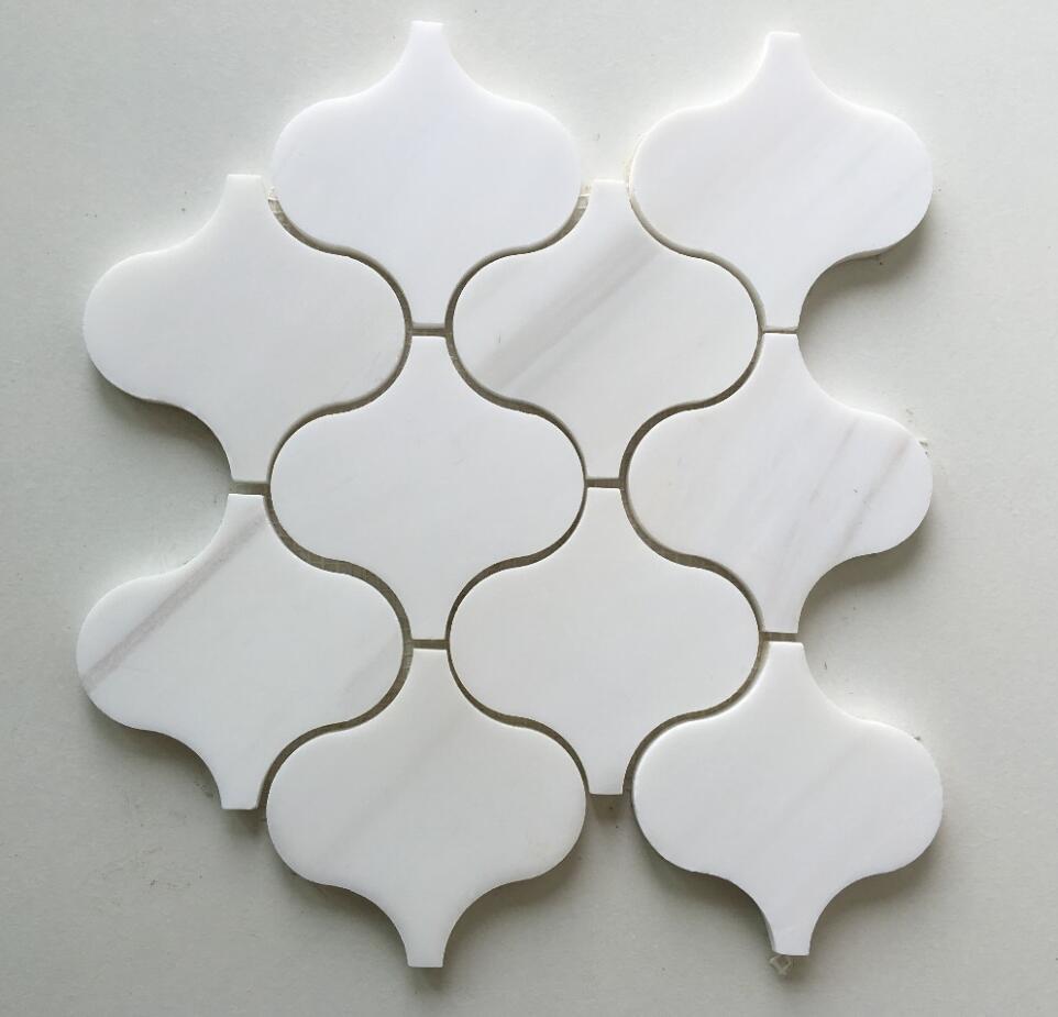 Lantern White Dolomite Backsplash Marble Mosaic Tile