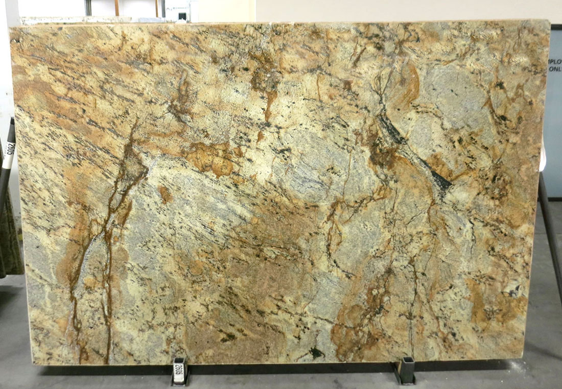Lappidus Beige Granite Slabs Brazil Granite Slabs for Countertops
