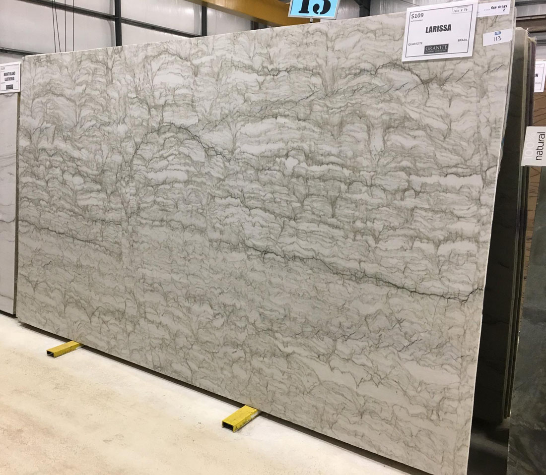 Larissa Quartzite Full Slab White Quartzite Slabs