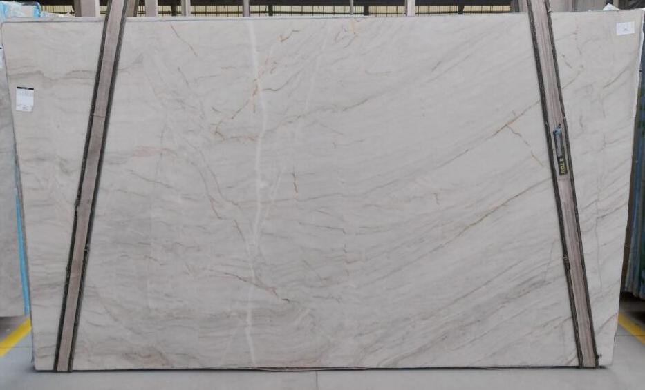 Latte White Quartzite Stone Slabs Brazil Polished Quartzite Slabs for Countertops
