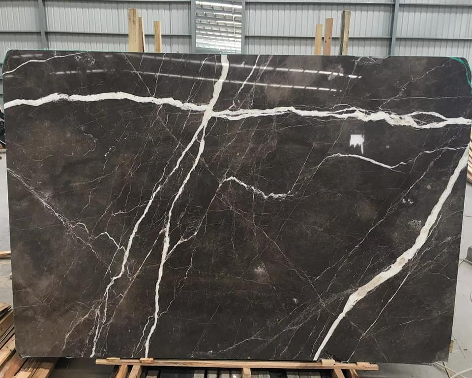 Laurent Brown Marble With White Veins Slab Polished Brown Marble Slabs