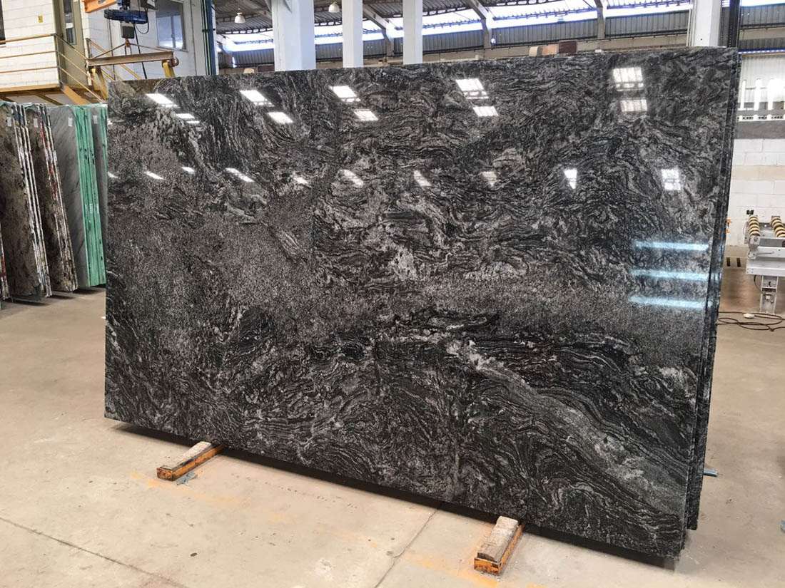 Lava Vechia Black Polished Granite Slabs