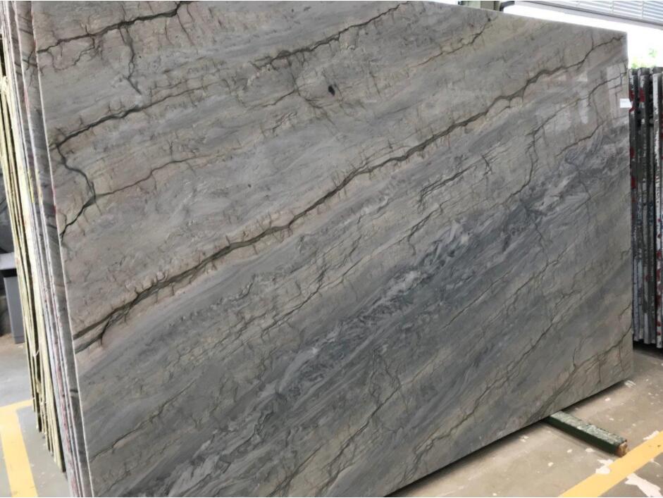 Leblon Quartzite Stone Slabs Blue Quartzite Slabs for Countertops