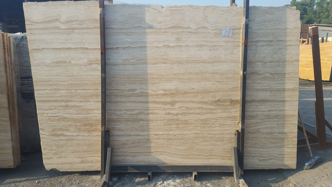 Light Beige Travertine Slabs with High Quality