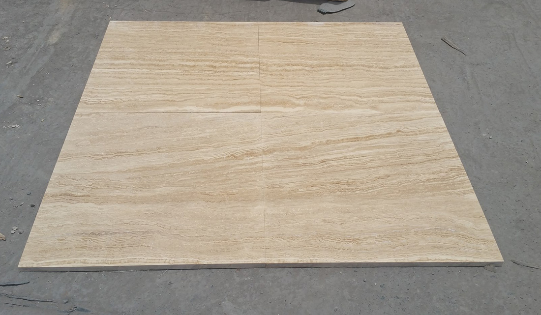 Light Beige Travertine Tiles for Flooring