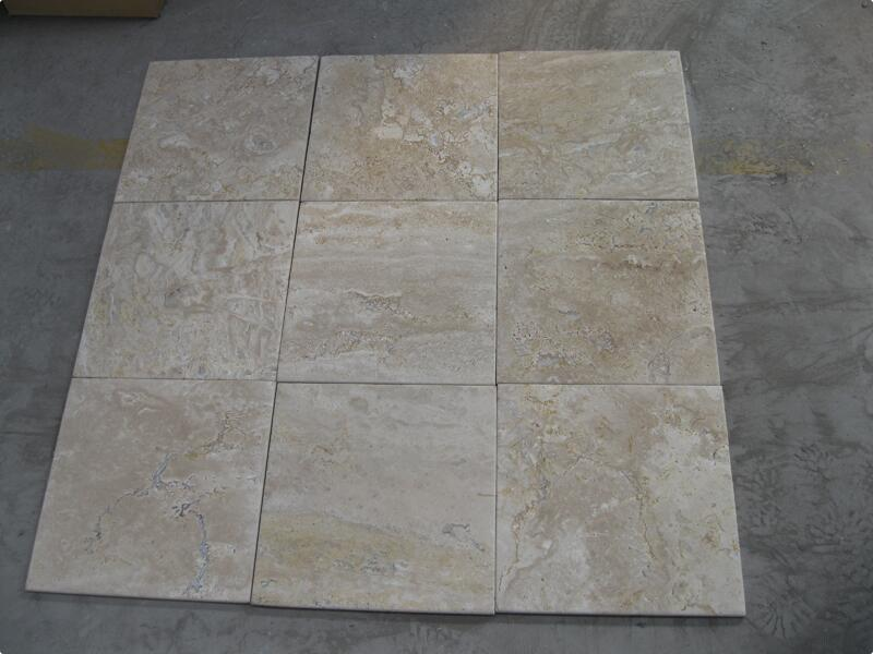 Light Coffee Travertine Tiles Brown Travertine Stone Flooring Tiles