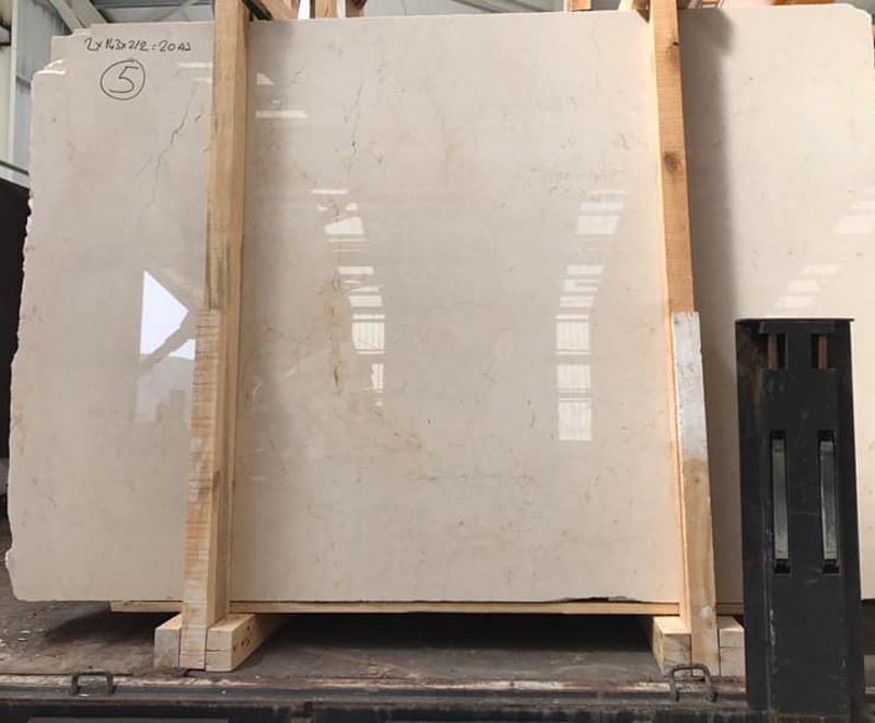 Light Cream Beige Marble Slabs Polished Marble Slabs