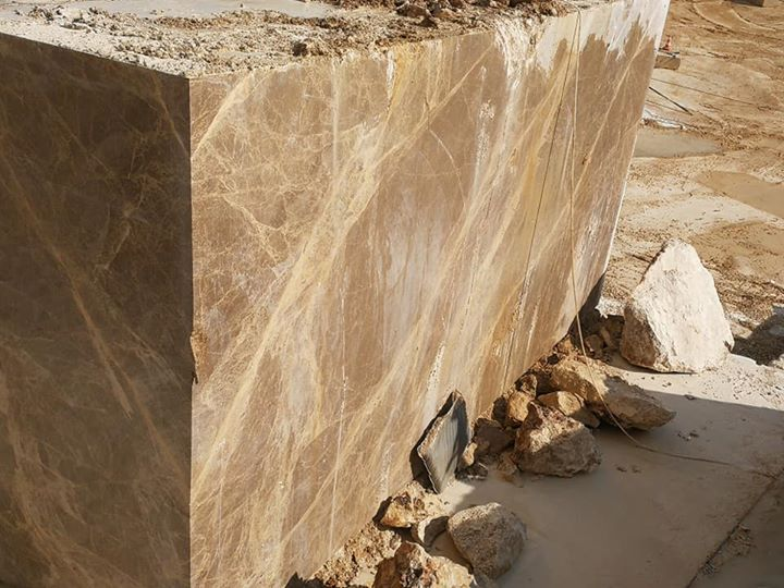 Light Emperador Blocks Turkish Brown Marble Blocks