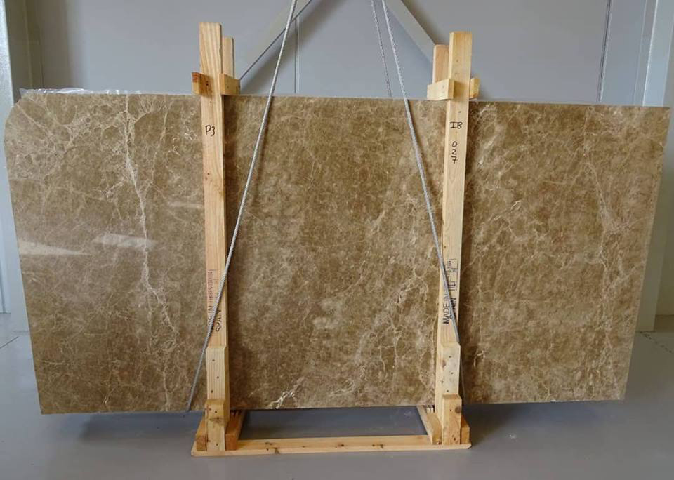 Light Emperador Brown Marble Polished Slabs from Spain