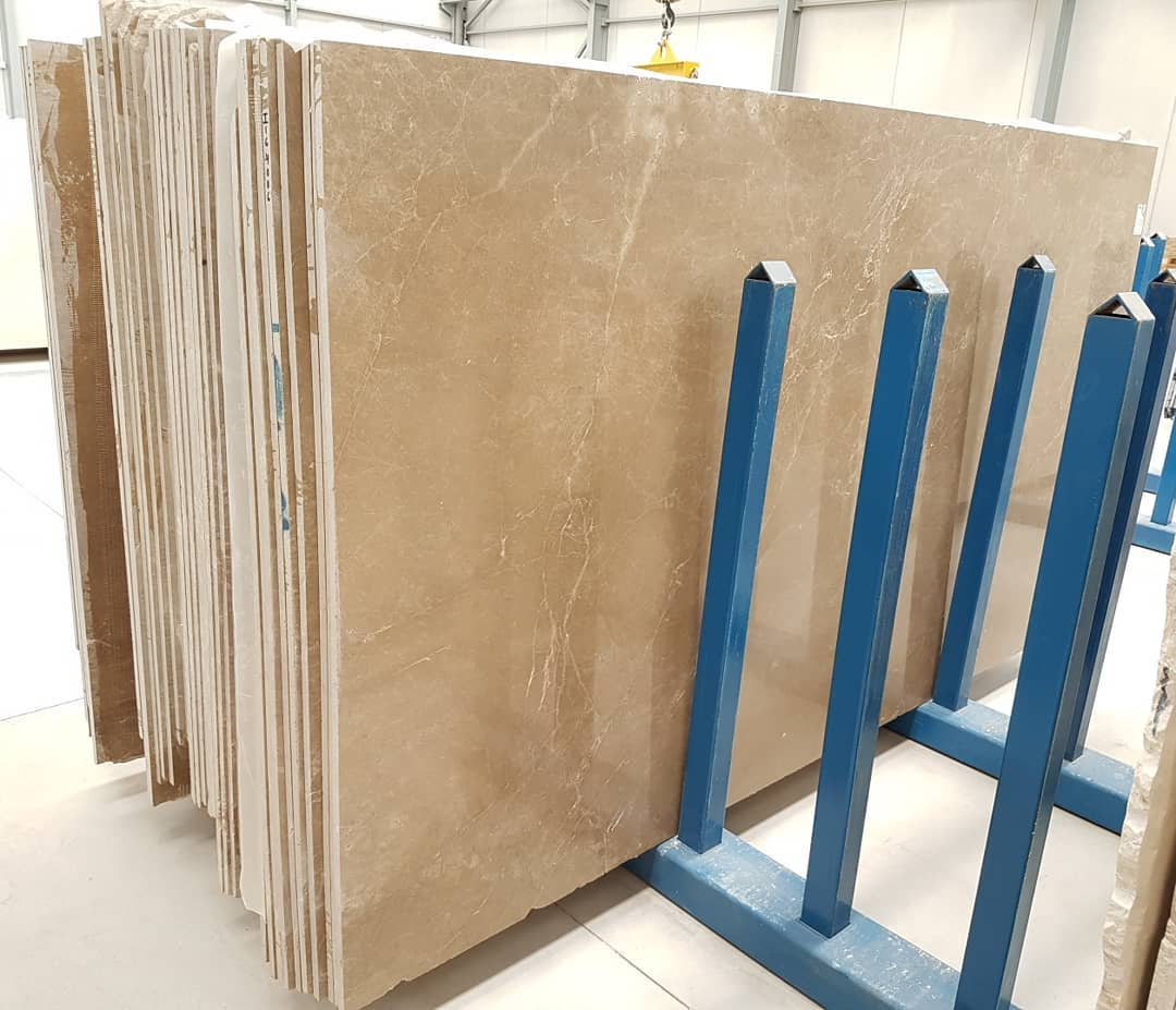 Light Emperador Brown Polished Marble Slabs