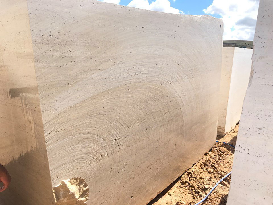 Light Travertine Blocks from Turkey