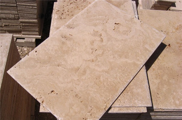 Light Travertine Tiles Antique Style