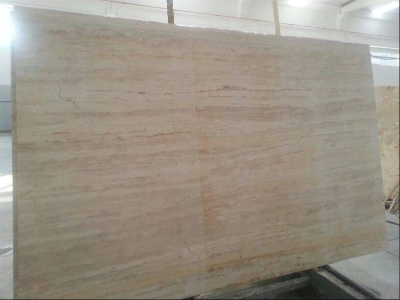Light Walnut Travertine Slabs Turkish Travertine Stone Slabs