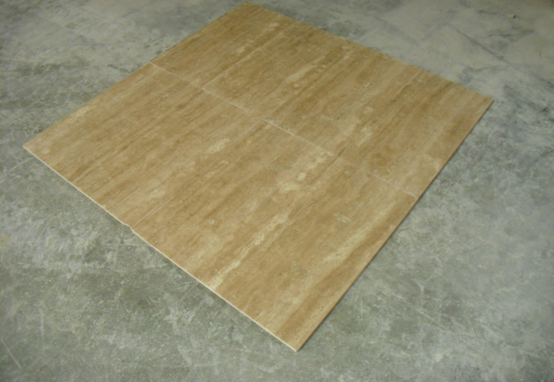 Light Walnut Veincut Filed & Honed Flooring Tiles