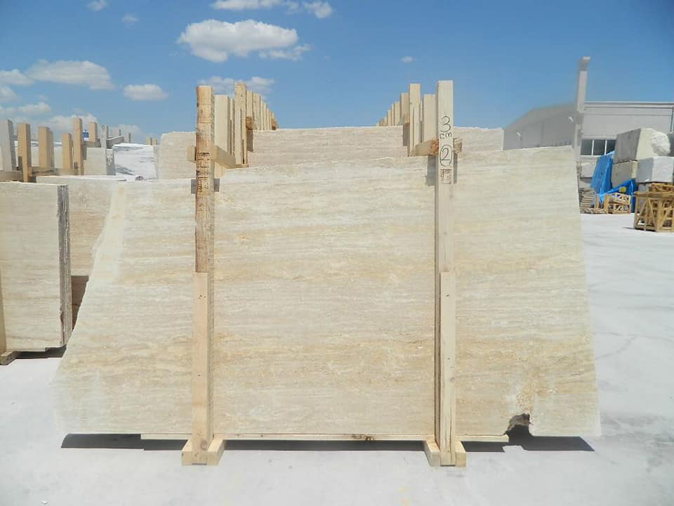 Light traverten Turkish Beige Travertine Slabs