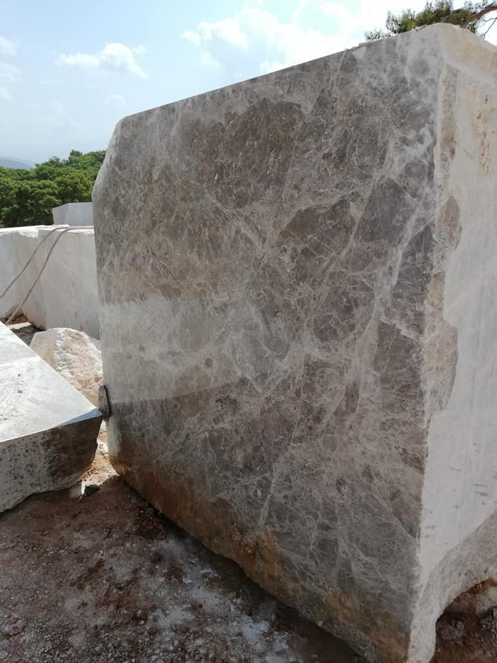 Likya Grey Marble Blocks Turkish Natural Marble Blocks