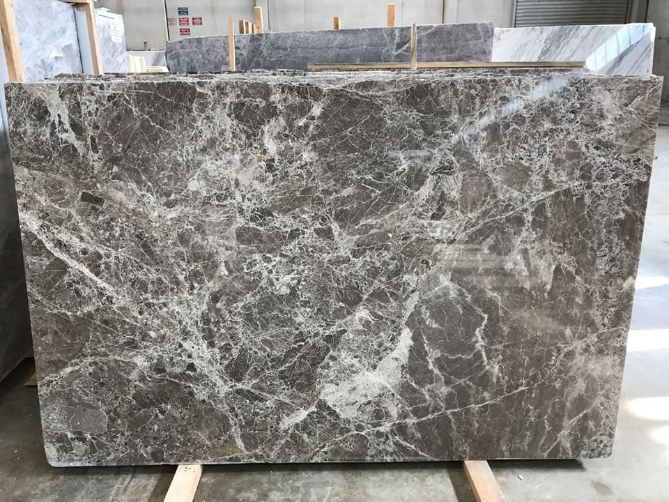 Likya Grey and Likya Dark Grey Marble Slabs