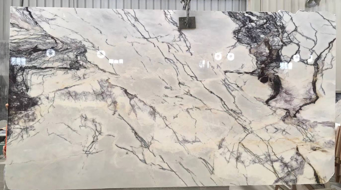 Lilac Marble Polished Slabs White Marble Slabs