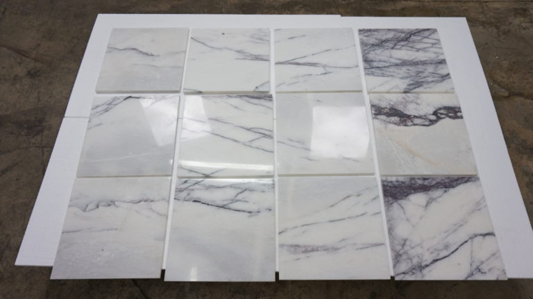 Lilac Tiles Turkish White Polished Marble Tiles for Walls