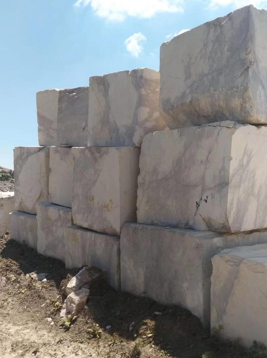 Lilac White Marble Blocks Turkish White Natural Stone Blocks