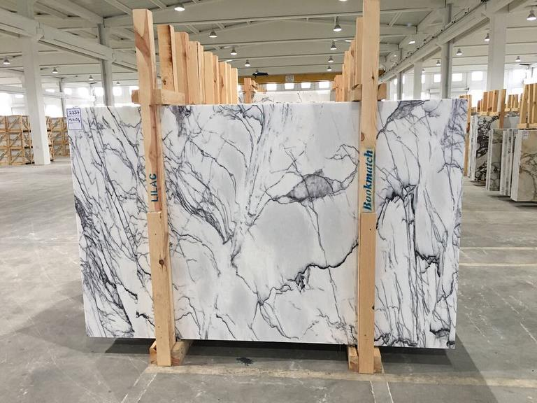 Lilac White Marble Stone Slabs Polished Turkish White Slabs
