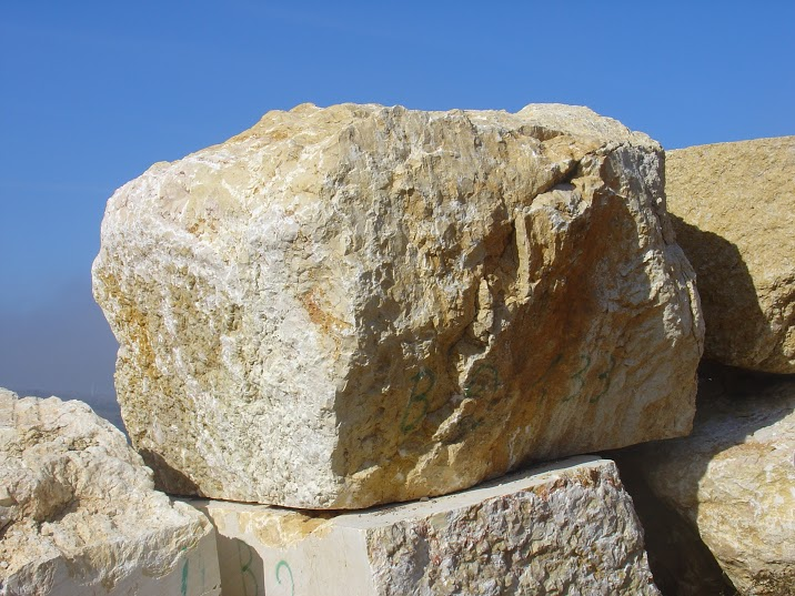 limestone beige stone blocks