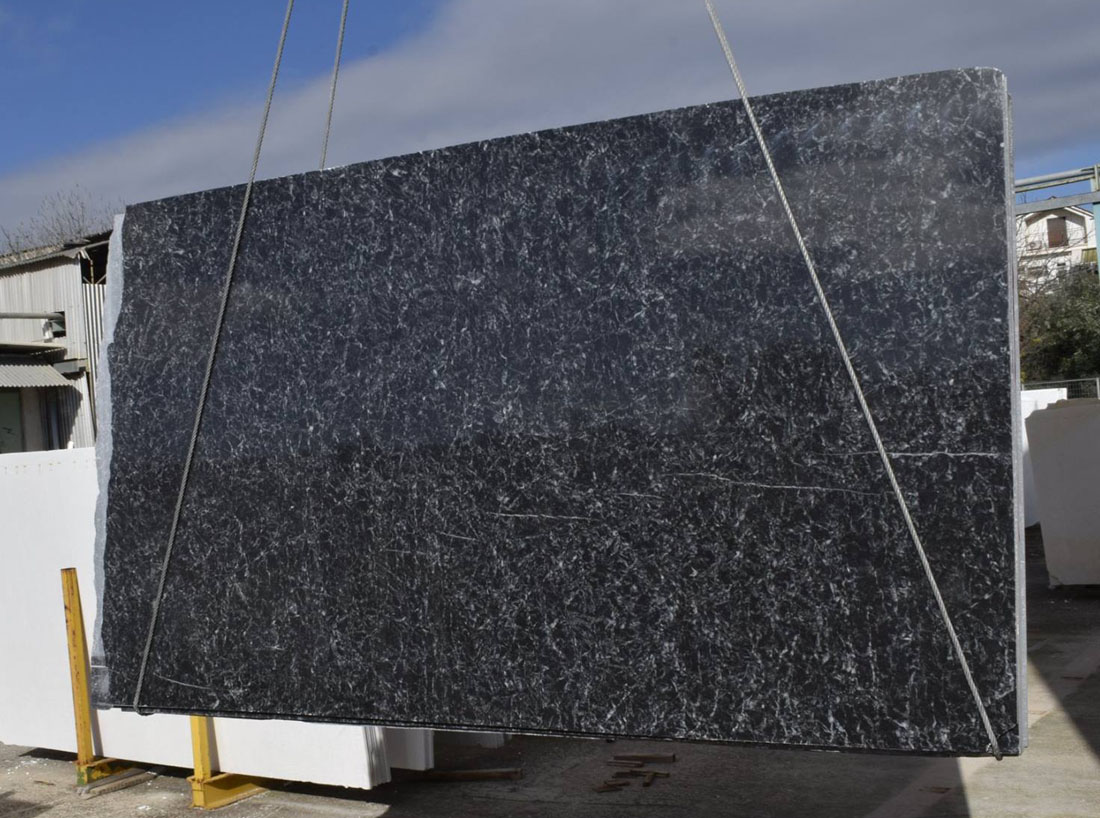 Livadia Black Marble Slabs from Greece