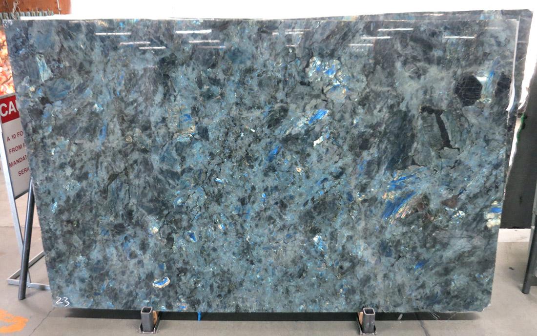 Lumerian Blue Polished Granite Slabs for Kitchen Countertops