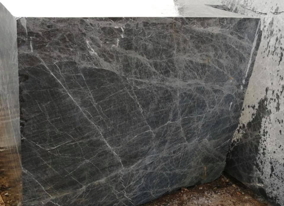 Luna Black Block Turkish Natural Marble Blocks