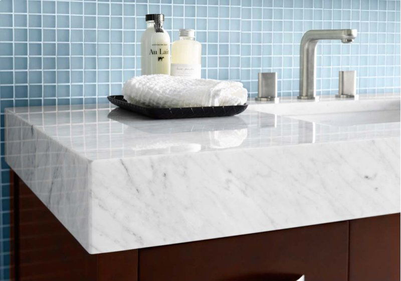 white marble vanity bathroom