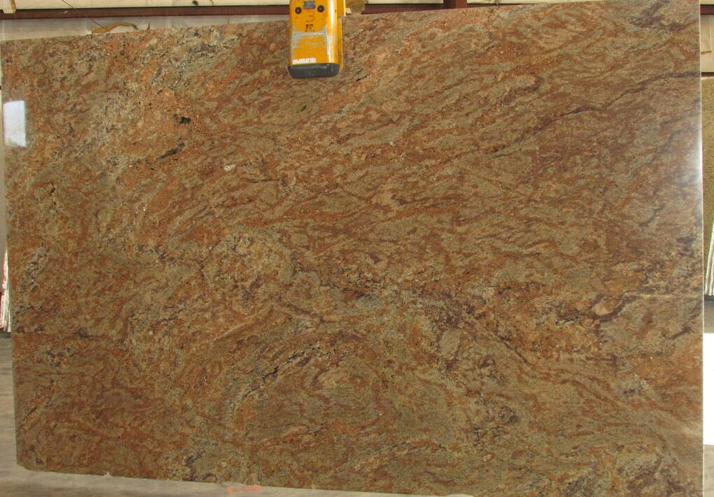 Madura Gold Granite Slabs Indian Yellow Granite Slab with Competitive Price