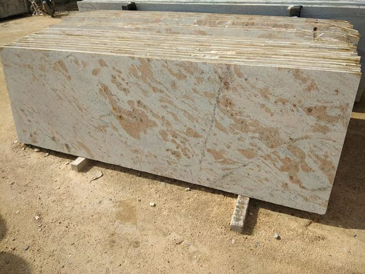 Madurai Yellow Polished Granite Slabs