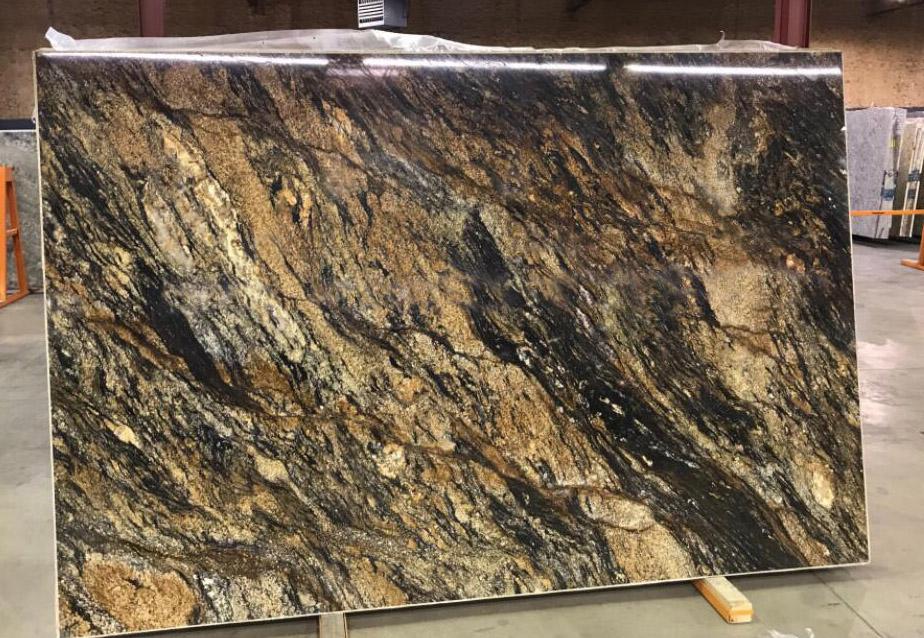 Magma Gold Granite Slabs Brazil Natural Stone Slabs for Countertops