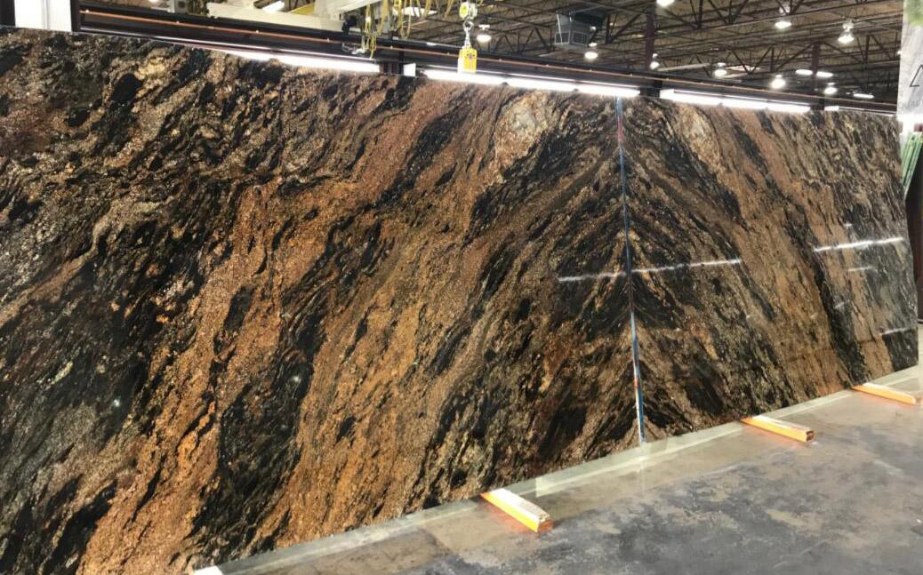 Magma Gold Granite Slabs Brazil Polished Granite Stone Slabs for Countertops