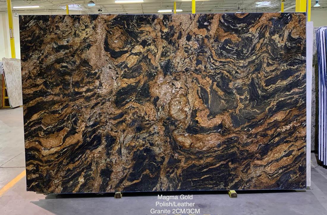 Magma Gold Granite Slabs Polished Granite Slabs for Kitchen Countertops