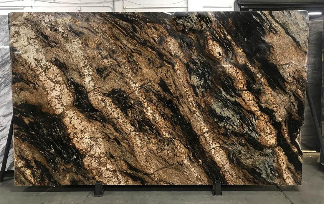 Magma Polished Granite Slabs Gold Granite Slabs for Countertops
