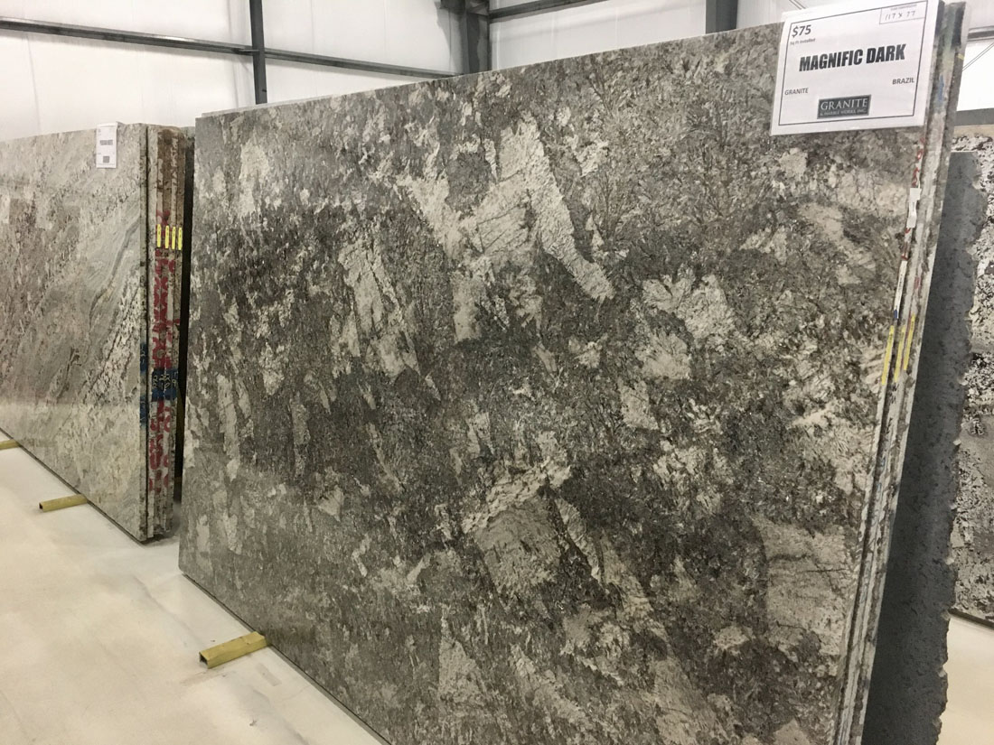 Magnific Dark Granite Full Slab for Kitchen Countertops