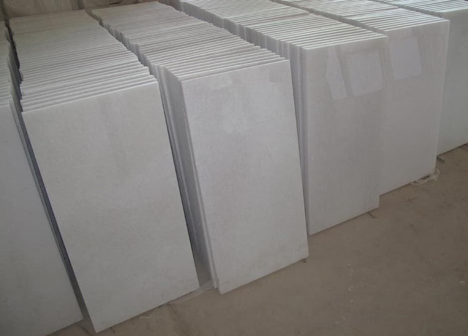 Makrana White Marble Tiles Indian Polished White Marble Tiles