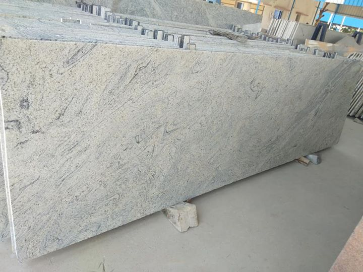 Mani White Ivory White Polished Granite Slab