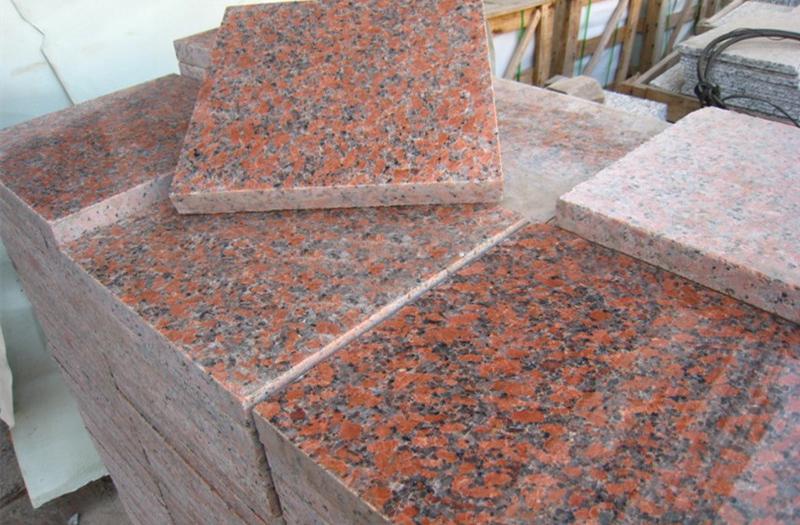 Maple Red Granite Tiles Polished Red Granite Flooring Stone Tiles