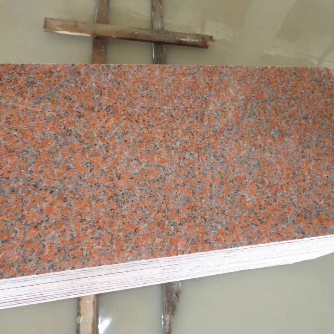Maple Red Granite Tiles Polished Red Granite Tiles
