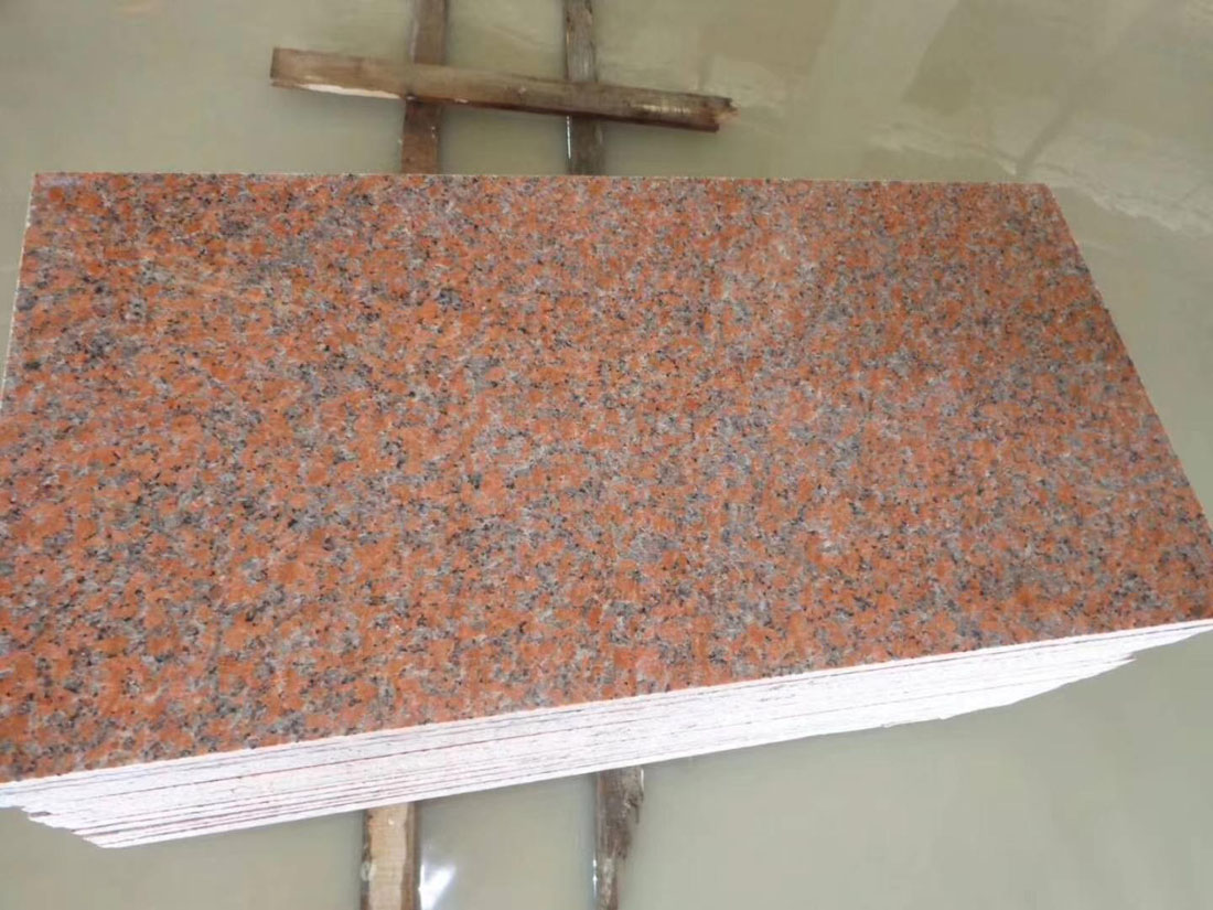 Maple Red Granite Tiles for Flooring