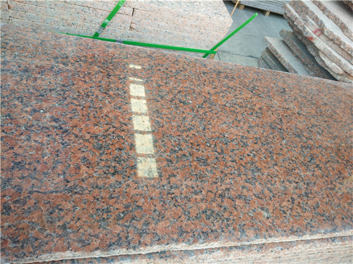 Maple Red Granite Tops for Kitchen Countertops
