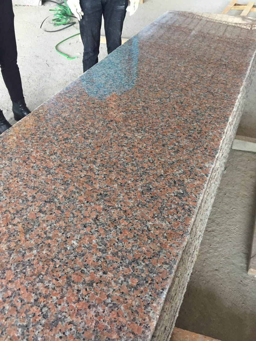 Maple Red Slab Polished Chinese Red Granite Stone Slabs