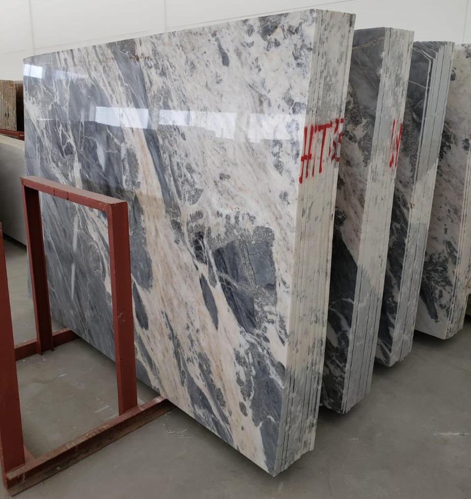 Mappa White Slab Turkish Marble Slabs for Vanity Tops