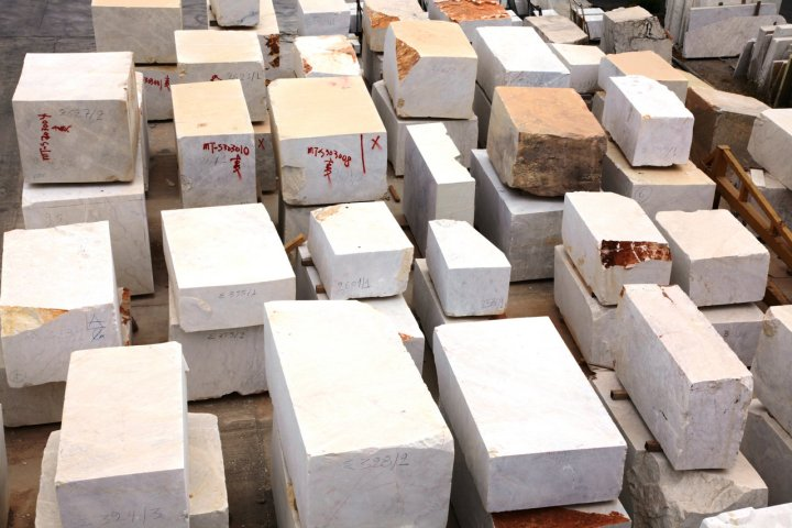 Marble Blocks from Greek Marble Quarry