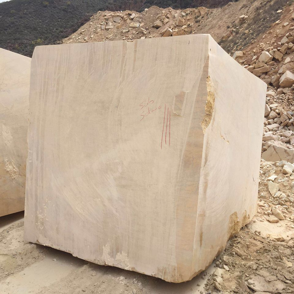 Marble Natural Blocks Yellow Triana Marble Blocks