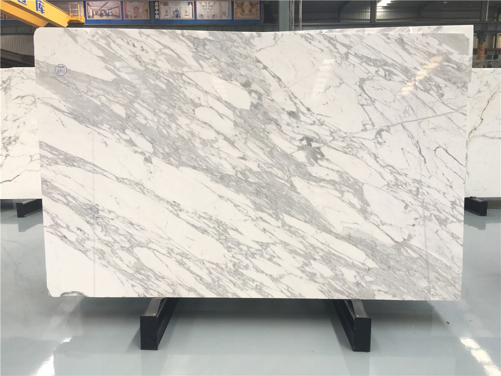 Marble Statuario Slabs Polished White Marble Slabs from Italy