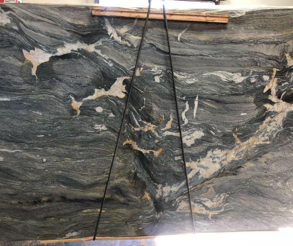Marine Blue Quartzite Leather Finished Quartzite Slabs