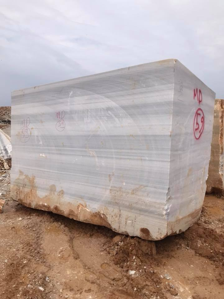 Marmara Blocks Turkish White Stone Marble Equator Blocks